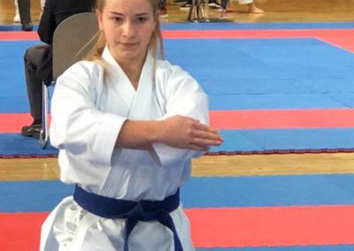 Laura Welschen zeigt Kata Kosokun Dai am Krokoyama Cup 2018